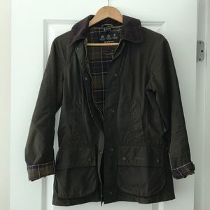 Barbour Beadnell Waxed Cotton Jacket + Hood